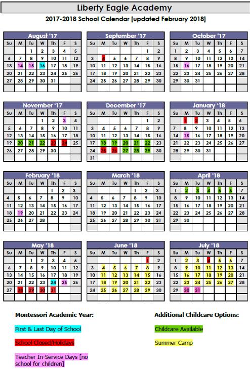 Calendar 2017 Updated