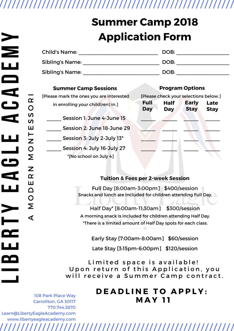 Summer Camp Application