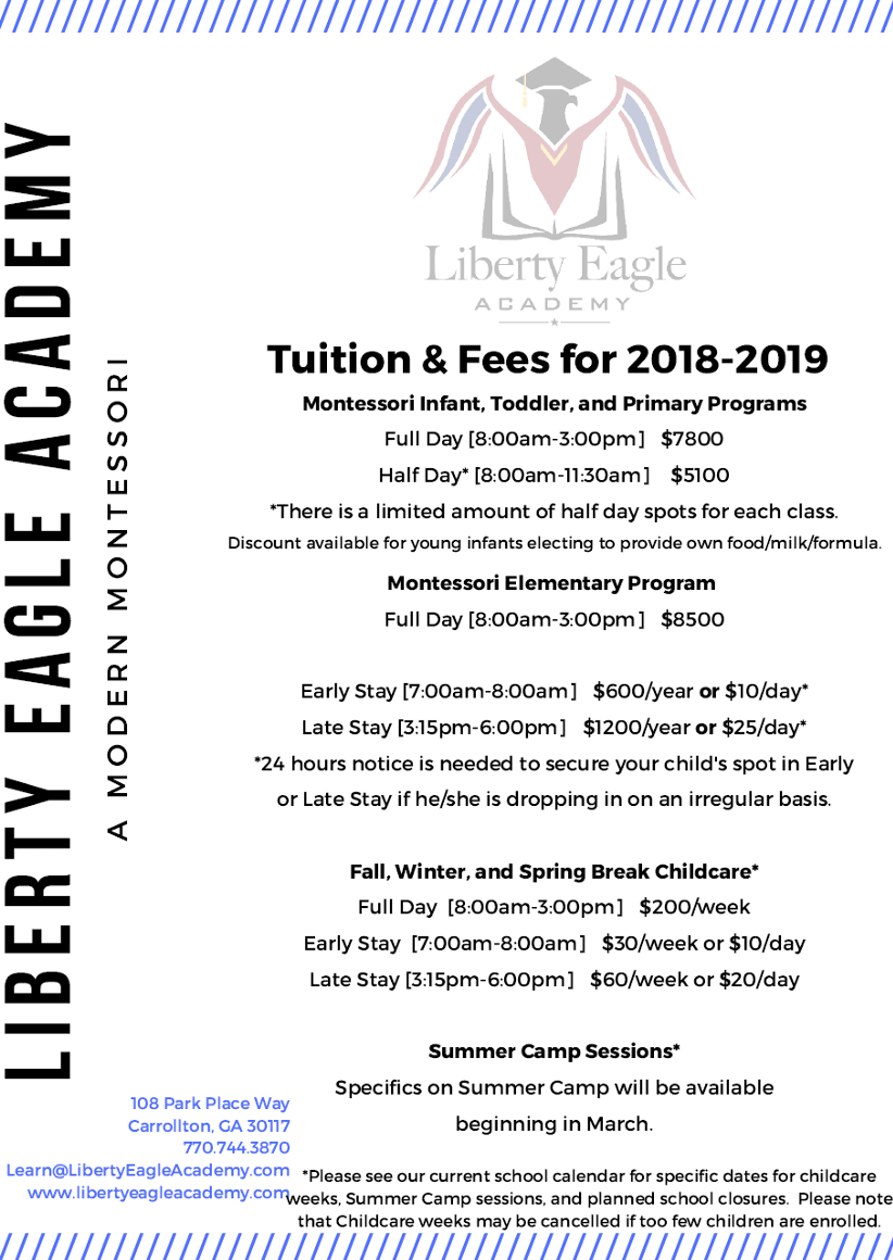 Tuition & Fees 2018-2019
